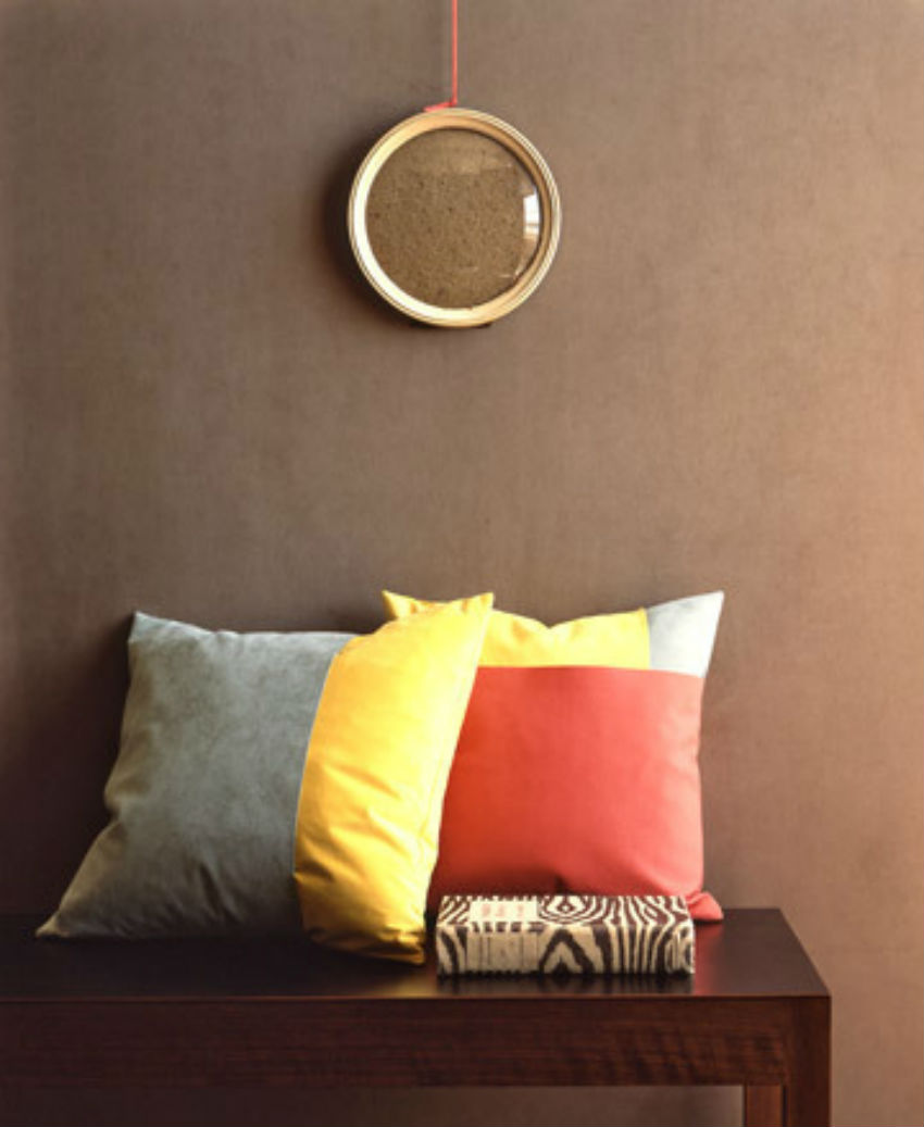 These pillows are made with solid bases with sleeves. Image Source: Martha Stweart