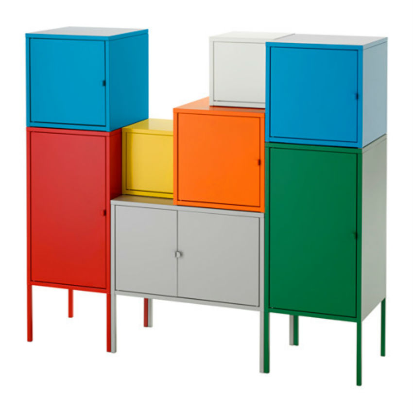 The Lixult storage combination is also sold at IKEA. Image Source: IKEA