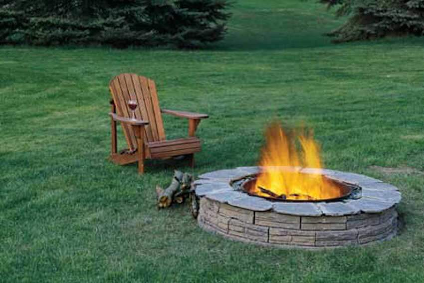 Relaxing by your own fire pit in your own backyard