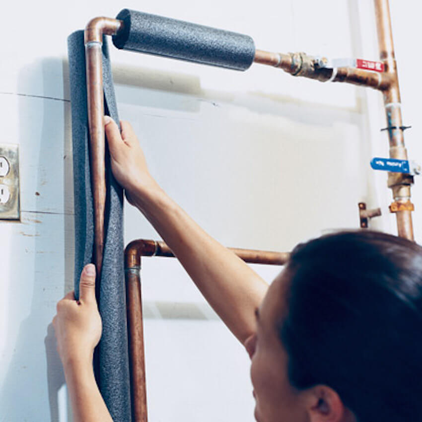 Insulate your pipes to protect against the cold