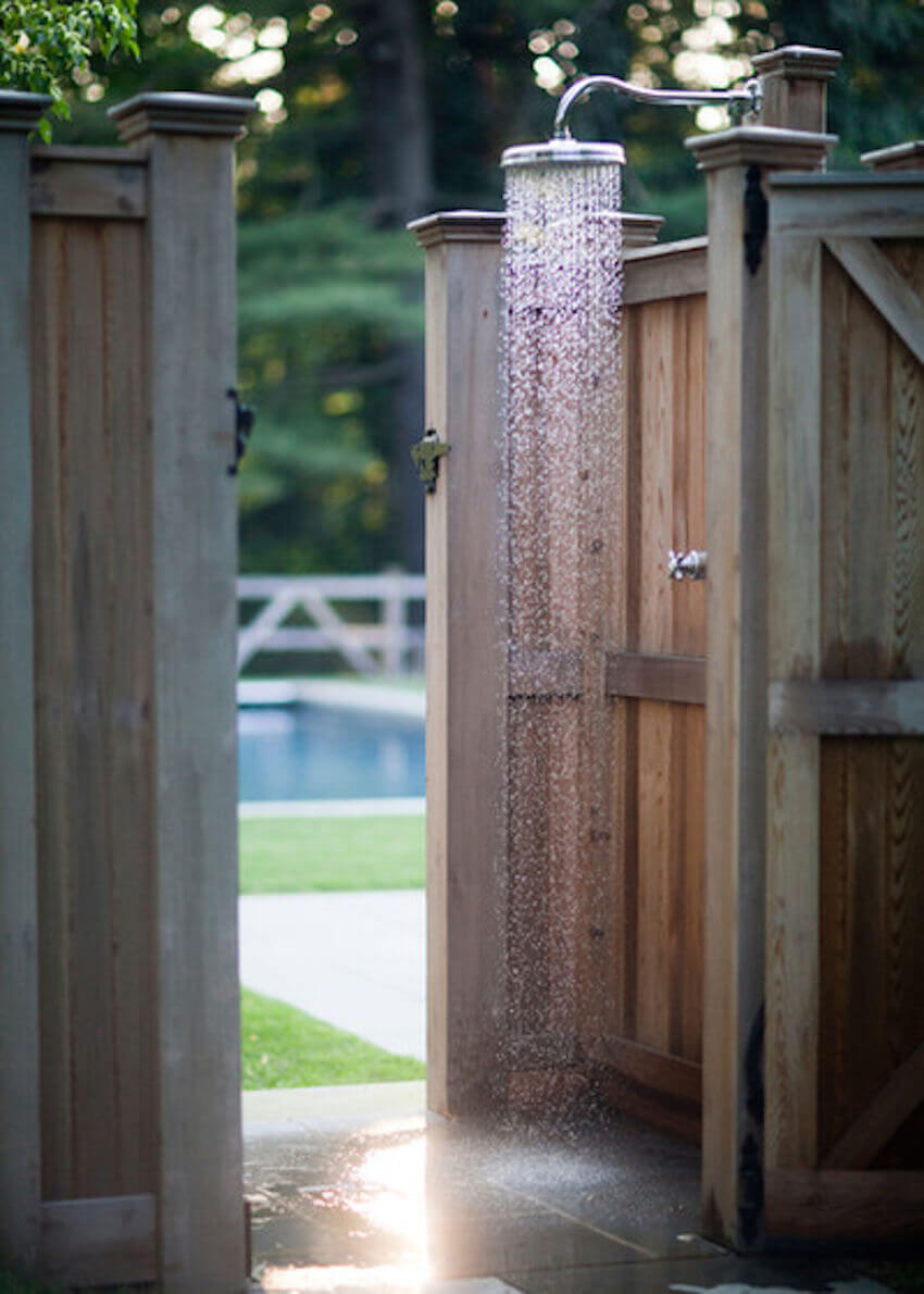 An outdoor shower can provide a luxurious spa-like experience and adds a special sense of wonder to your backyard.