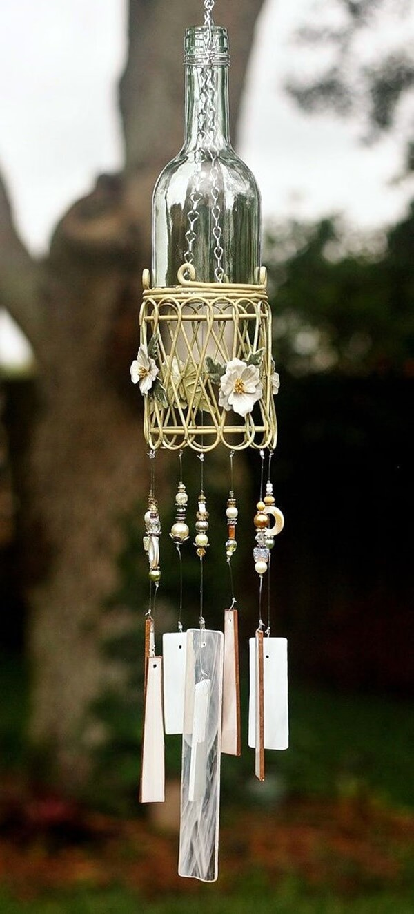 Wind chimes look and sound nice