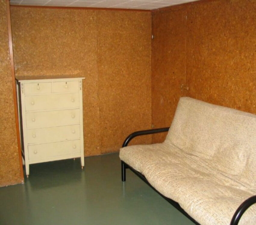 A completely boring basement.