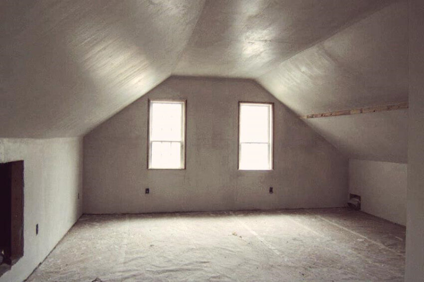 Before, this bedroom just looked like empty attic space.