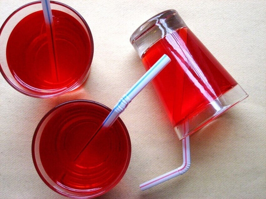 Make some jelly and put it in with straws!