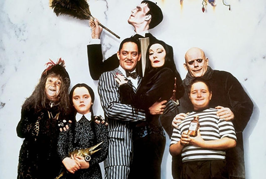 Addams Family is known by it's dark humor delivered in a light manner, pleasing both kids and adults.