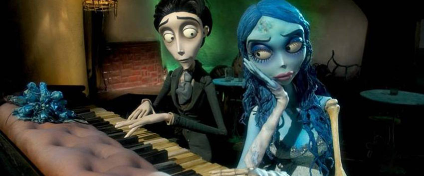 Corpse Bride marks the return of Tim Burton's art style to stop motion animation.