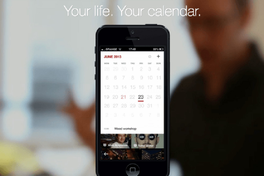 Cal from Any.do is a great calendar app - 7 ways to organize after New Year's Eve