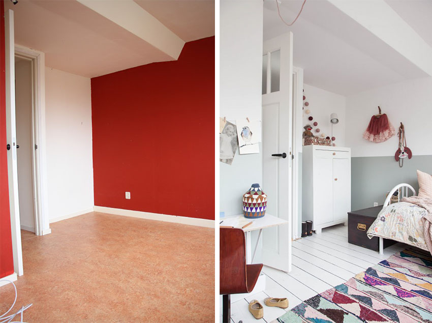 If you need to create the illusion of space in a cramped room, go for bright colors.