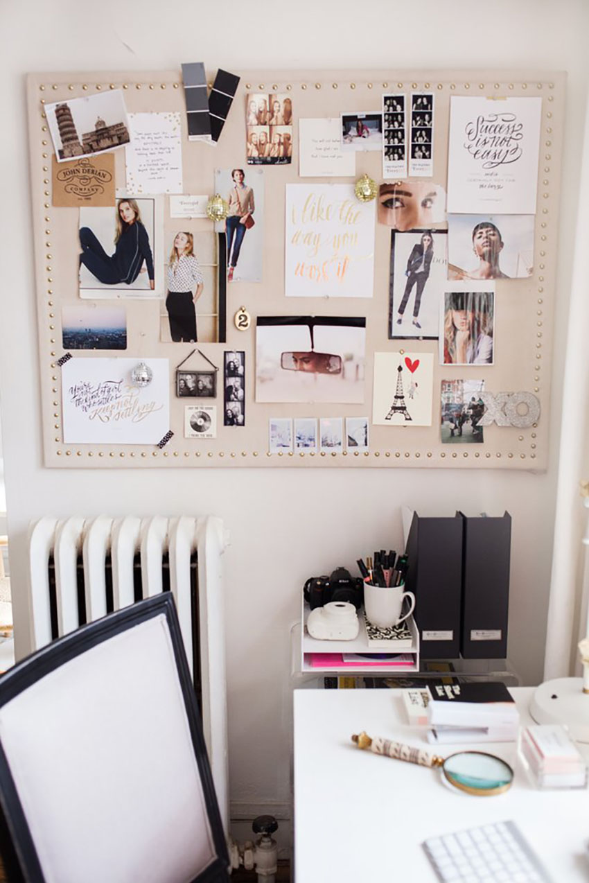Careful with clutter - inspiration board
