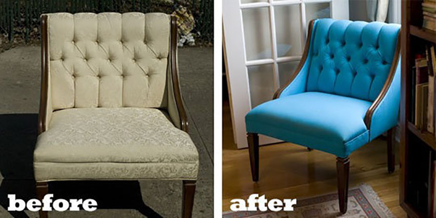 Furniture upholstery project