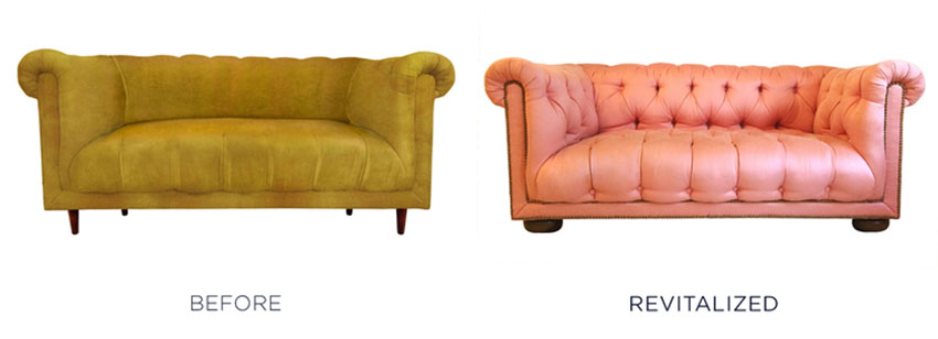 Classy couch reupholstery project