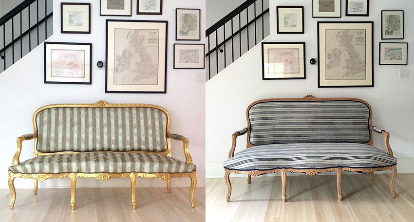 Vintage to modern upholstery project