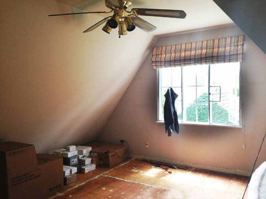The attic room before the upgrade...