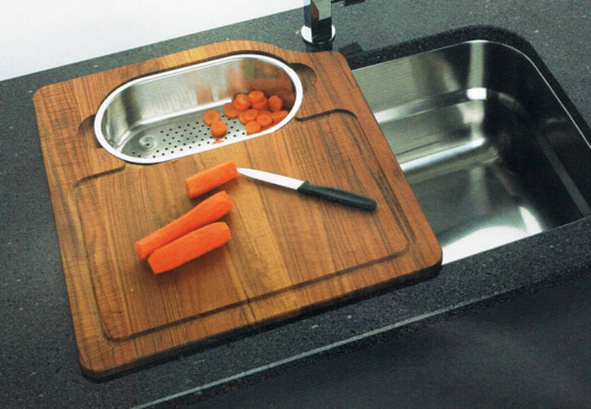 This over the sink cutting board is so practical!
