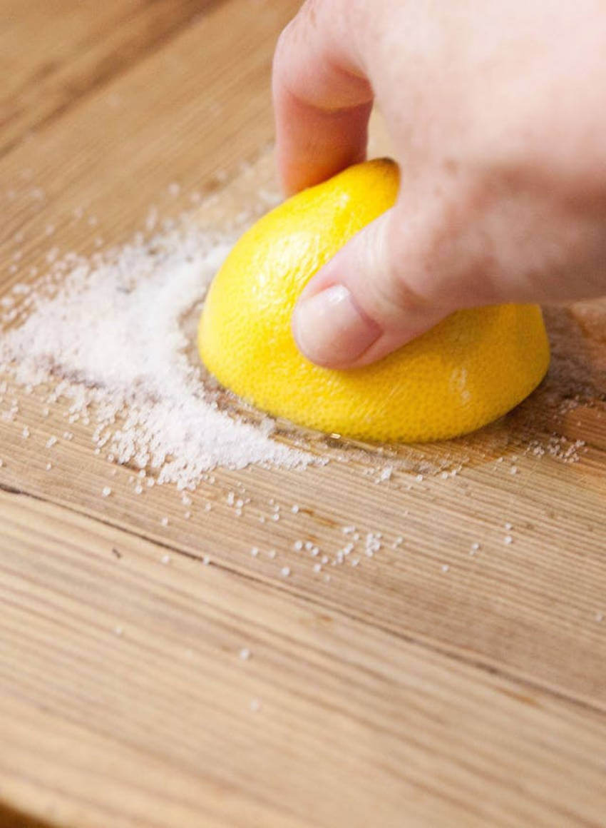 Lemon is very common when it comes to cleaning hacks!