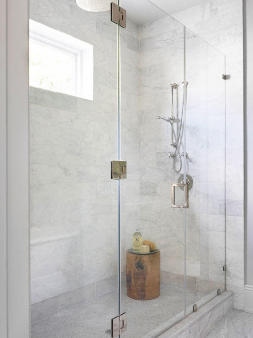Frameless shower doors are a lot easier to maintain.