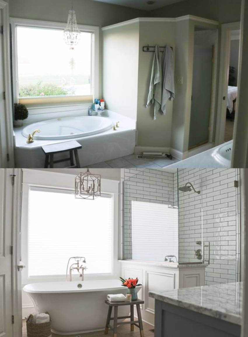 This bathroom got a complete makeover and it's amazing!
