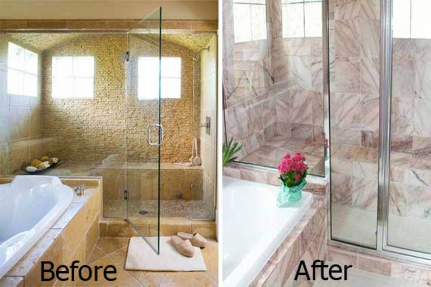After the remodeling, this bathroom is looking modern and stylish!