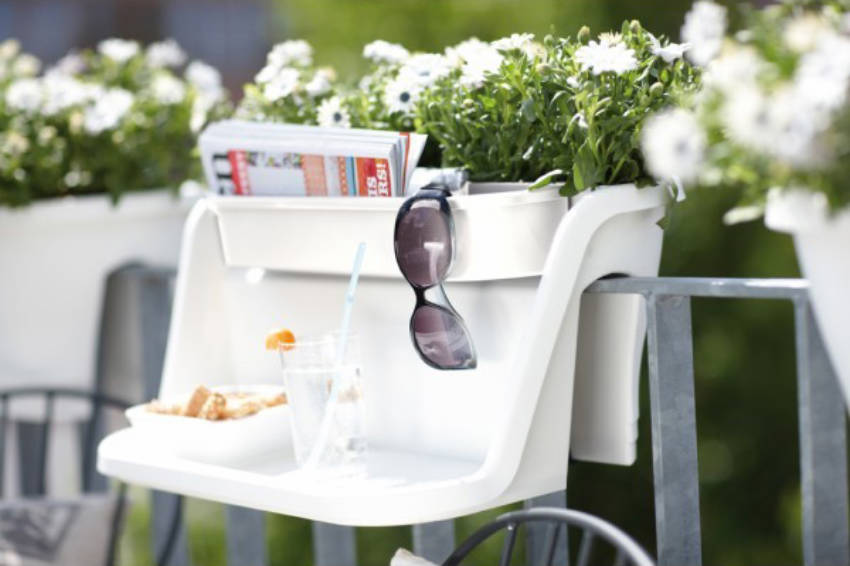 Creative products can add space and charm to your small balcony.
