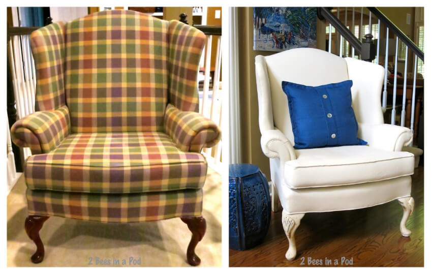 The white made this chair super elegant!