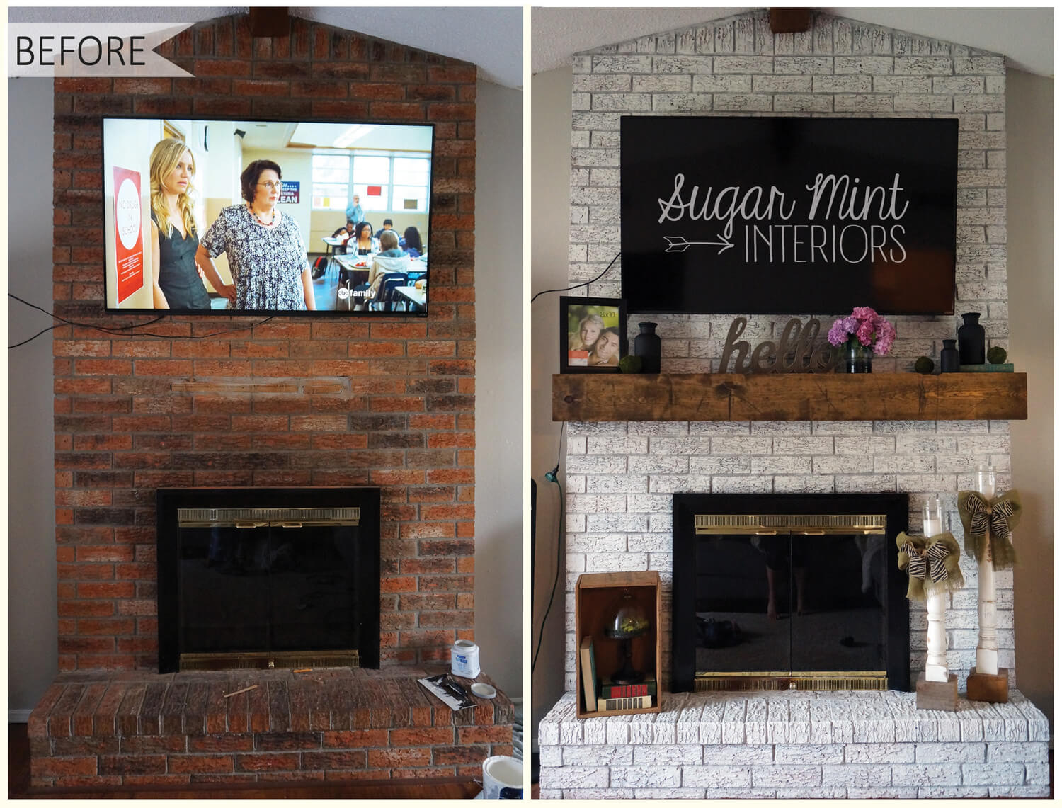 A really classy look for the mantle