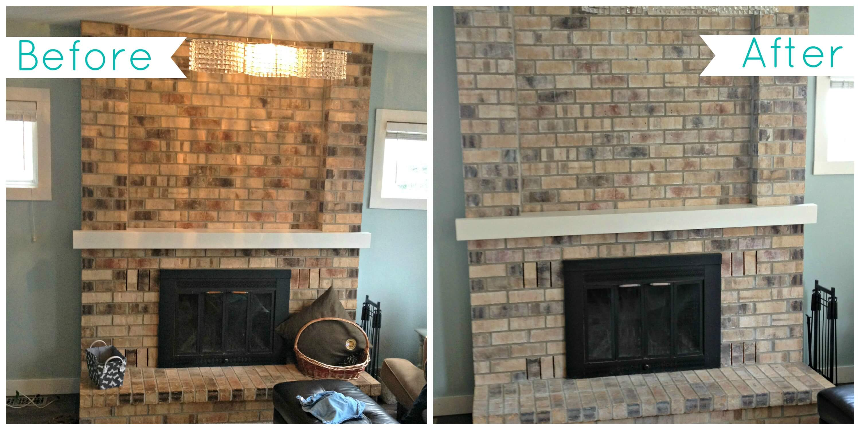 Stone tiles can be redone for an incredibly effective look