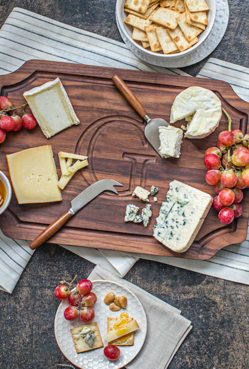 This monogrammed cutting board is perfect if you want to make your gift even more personal