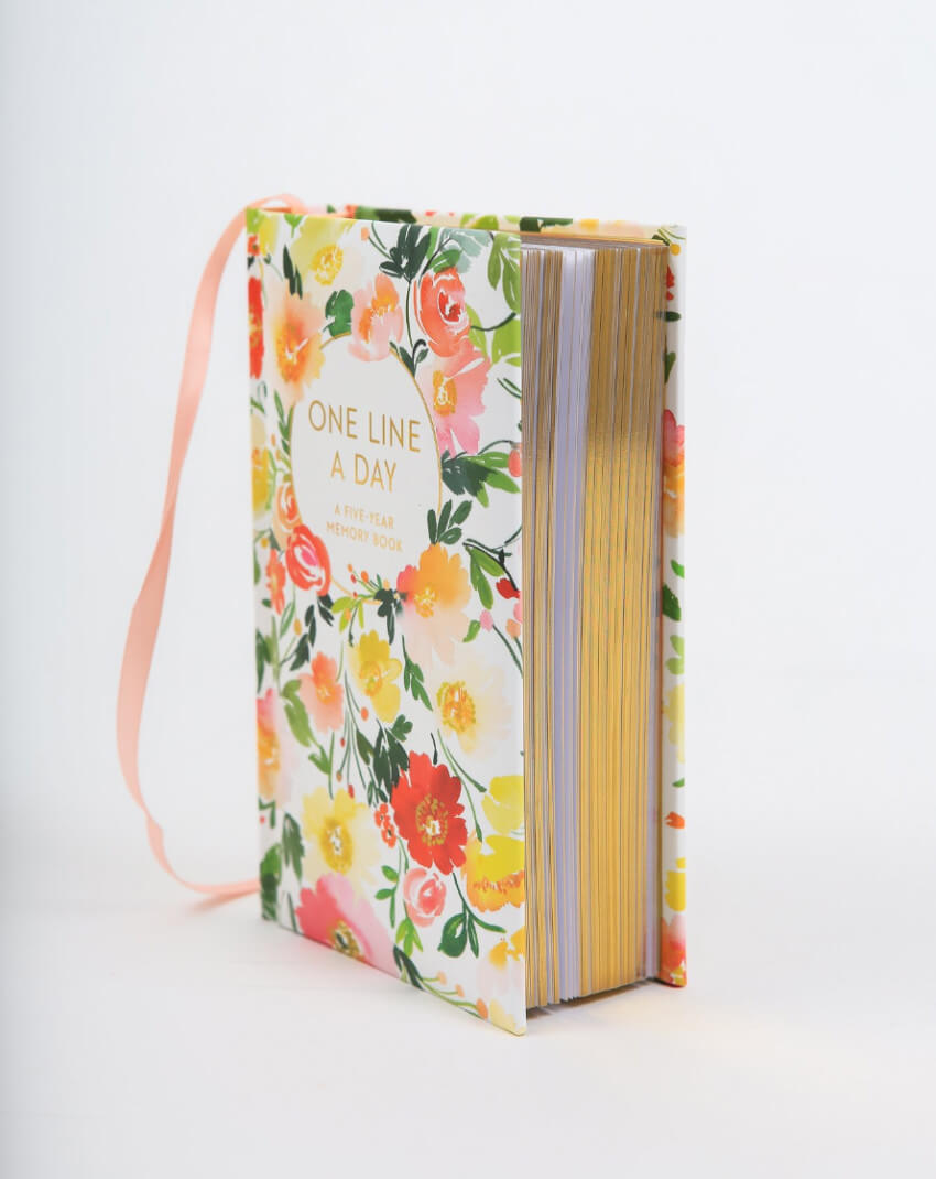 A line-a-day journal with beautiful art throughout so she can jot down her favorite memories and thoughts for the next five years