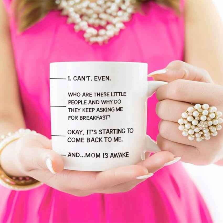 There's nothing better than a personalized mug for the coffee-loving mom.