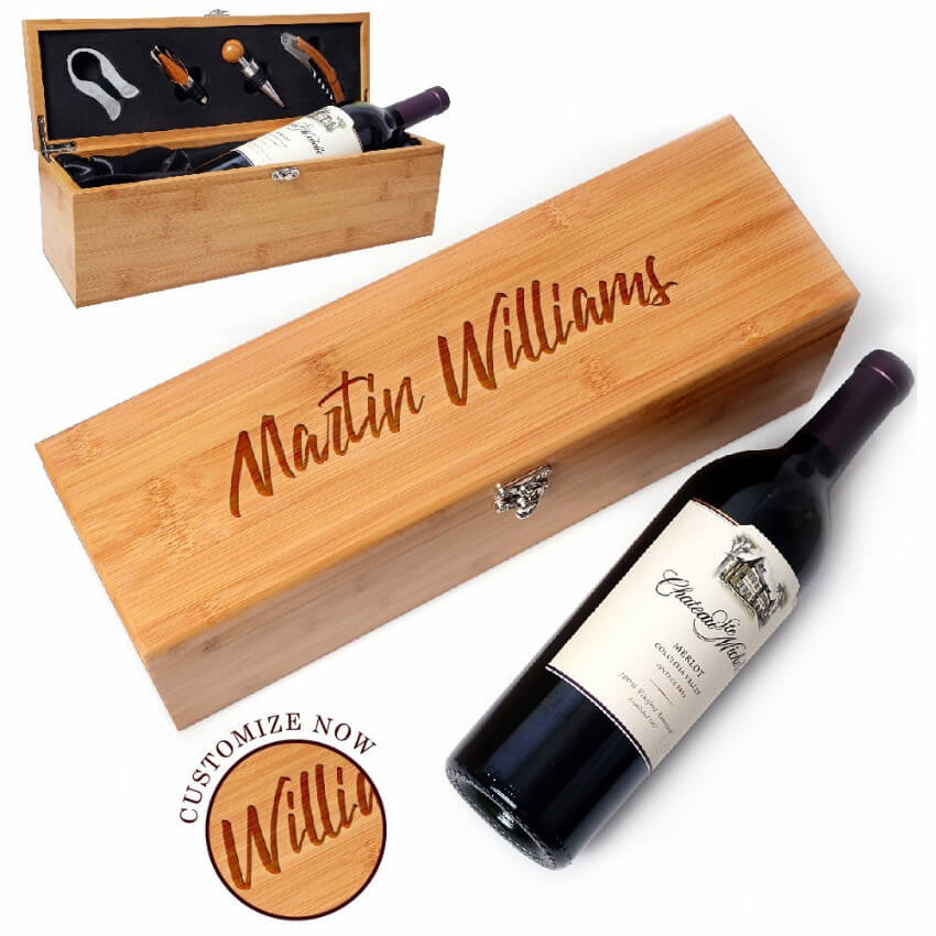 A beautifully personalized box set for the wine-loving mom