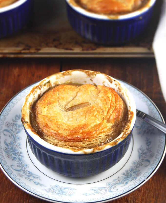 This mushroom pie is perfect to warm you up on a chilly day.