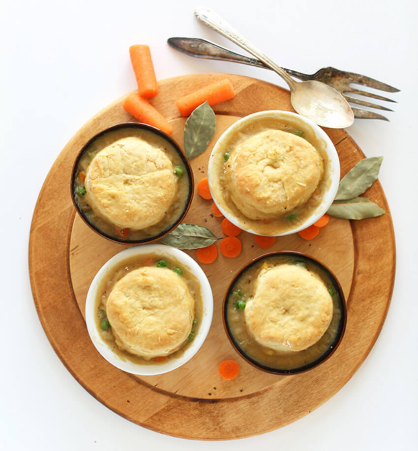 These individual pot pies are perfect for when you have friends over!