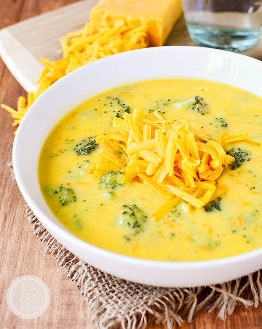 Cheese and broccoli blend so well in this soup, it's amazing!