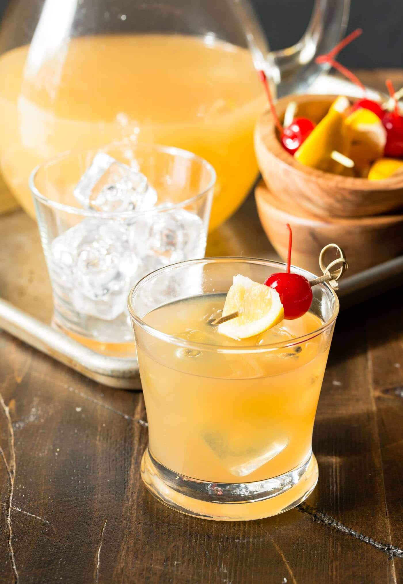 The only way to make a whiskey sour better? Add lemon