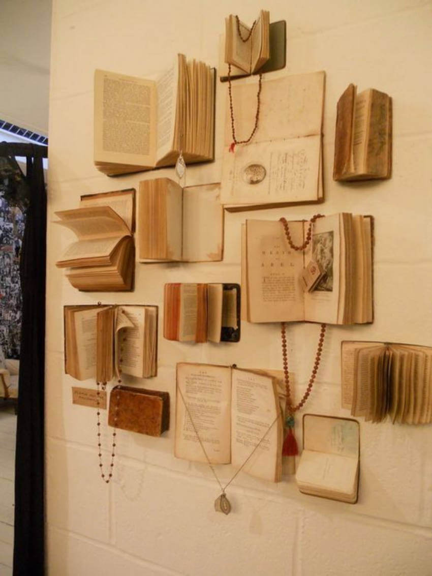 10 Stylish Diy Ideas To Decorate Your Home With Books Homeyou