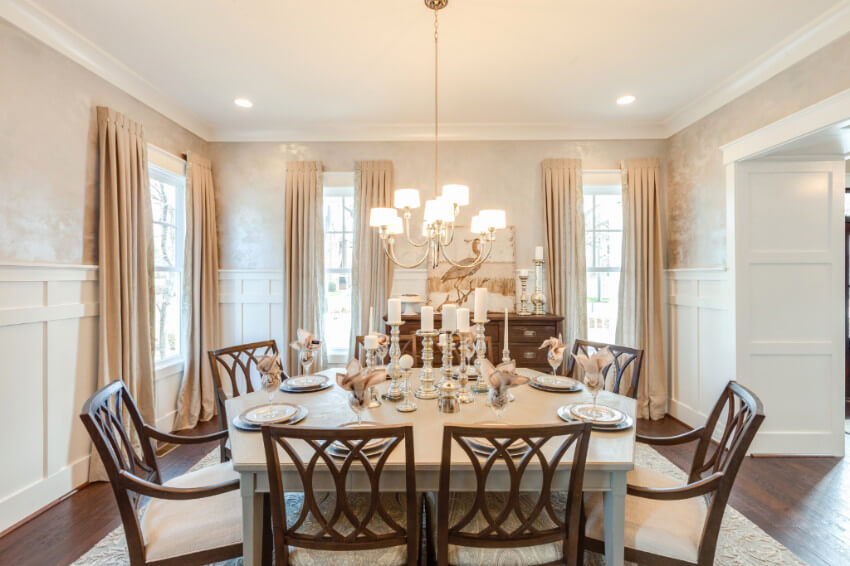 It's a gorgeous and fancy dining room you can get on a budget!