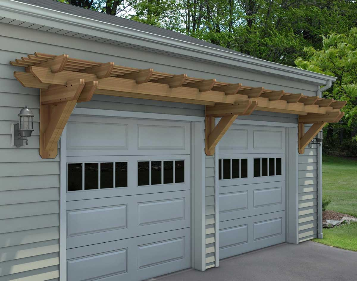 A beautiful custom wooden pergola
