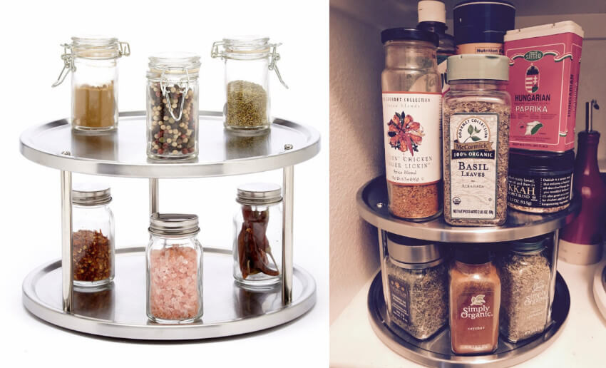 This two-tier lazy susan will finally get all your spices organized and provide easy access