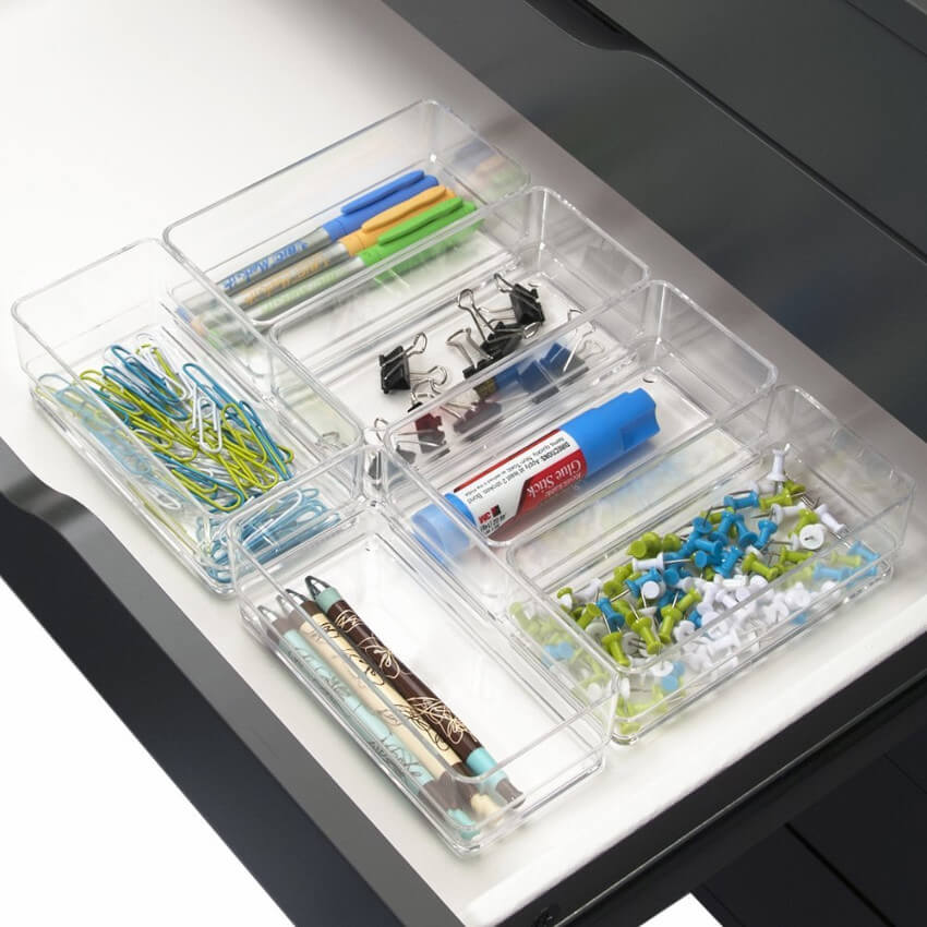 Your junk drawers will make you proud after adding these plastic organizers.