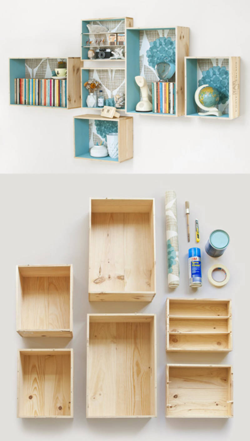 Easy DIY shelves.