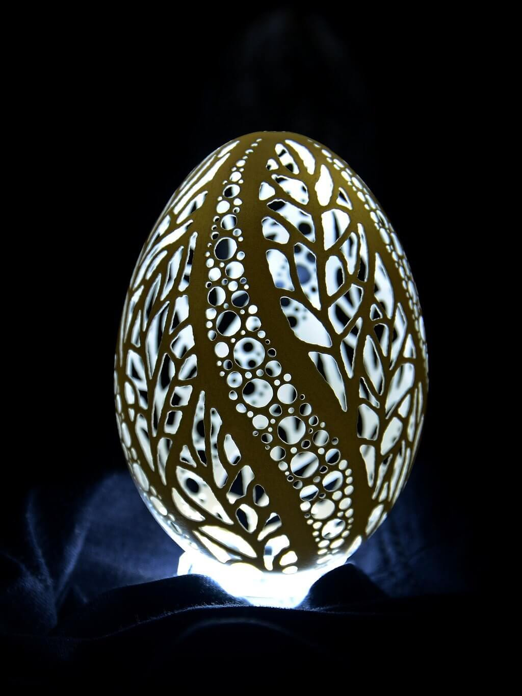 Carved eggs look great under the right light