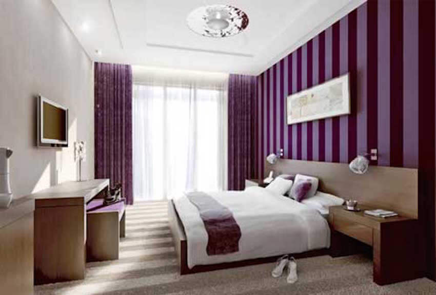 Purple passion in the bedroom with interior painting