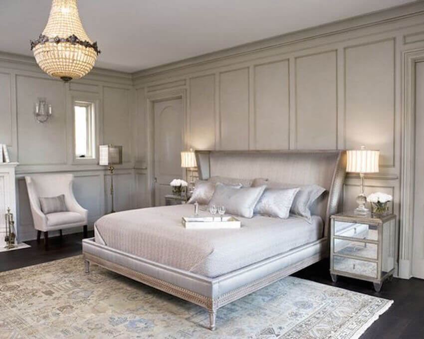 Silvery bedroom coloring options for any interior
