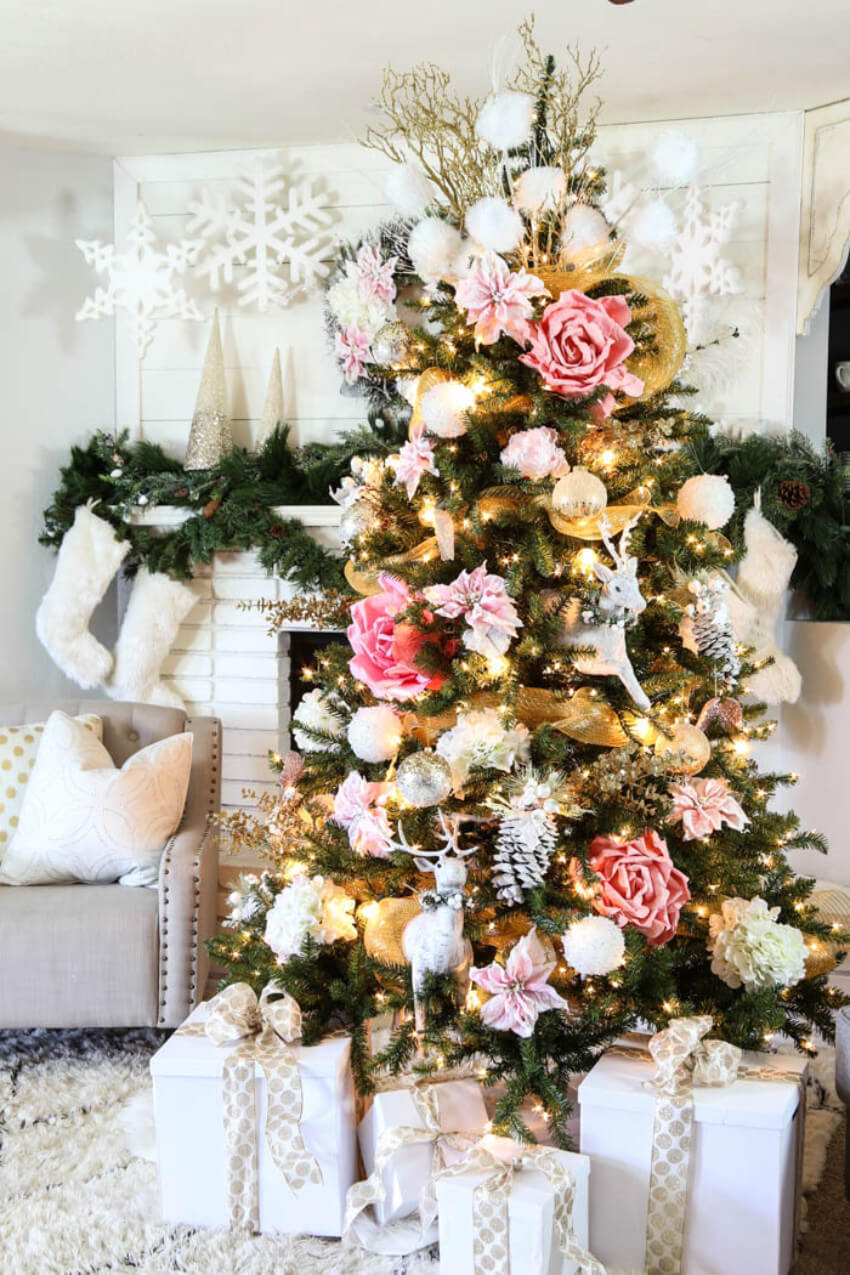 Focus on a combination of colors to make your tree even more beautiful!