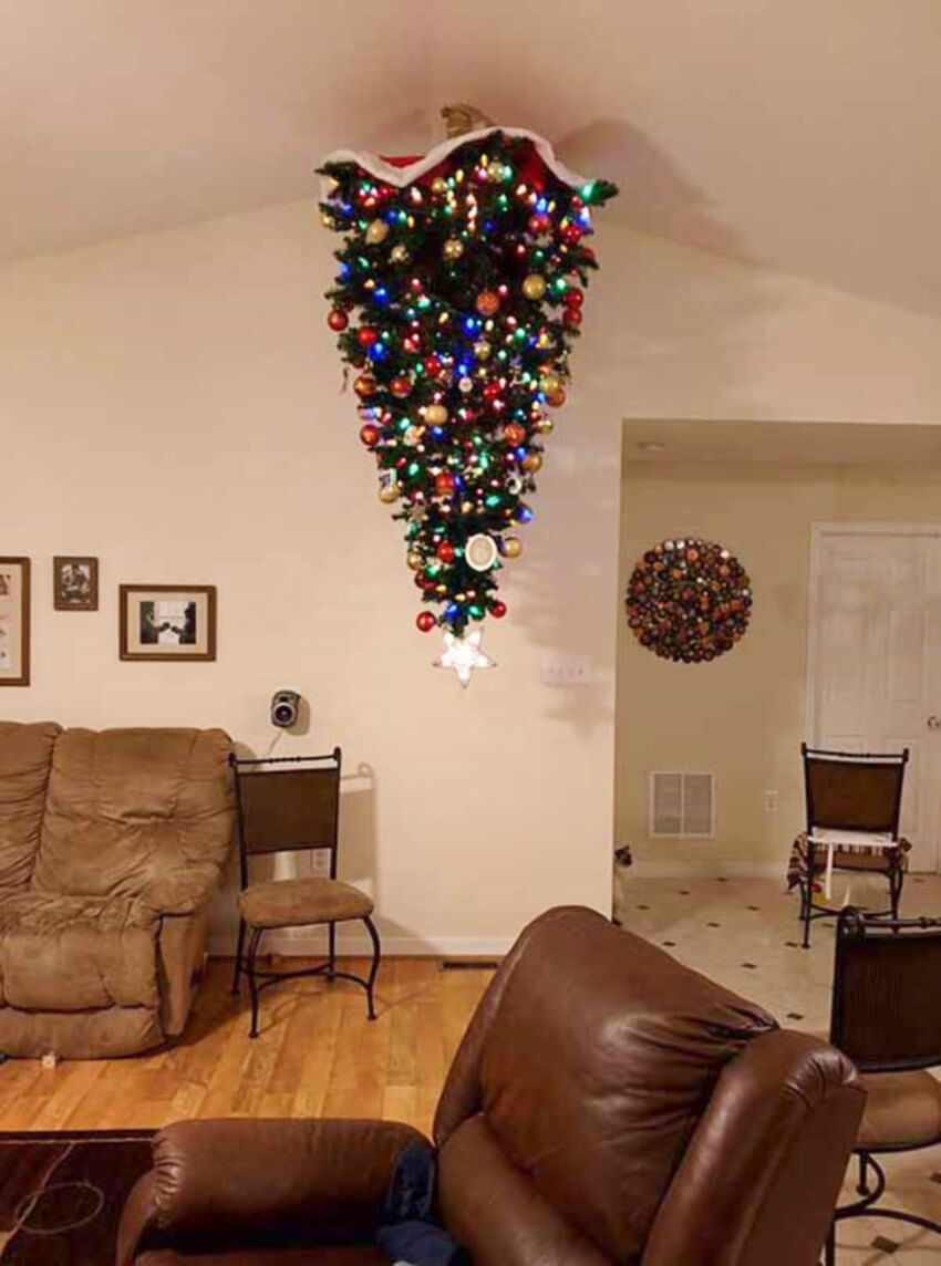 Hang the tree on the ceiling so no pets or kids can reach.