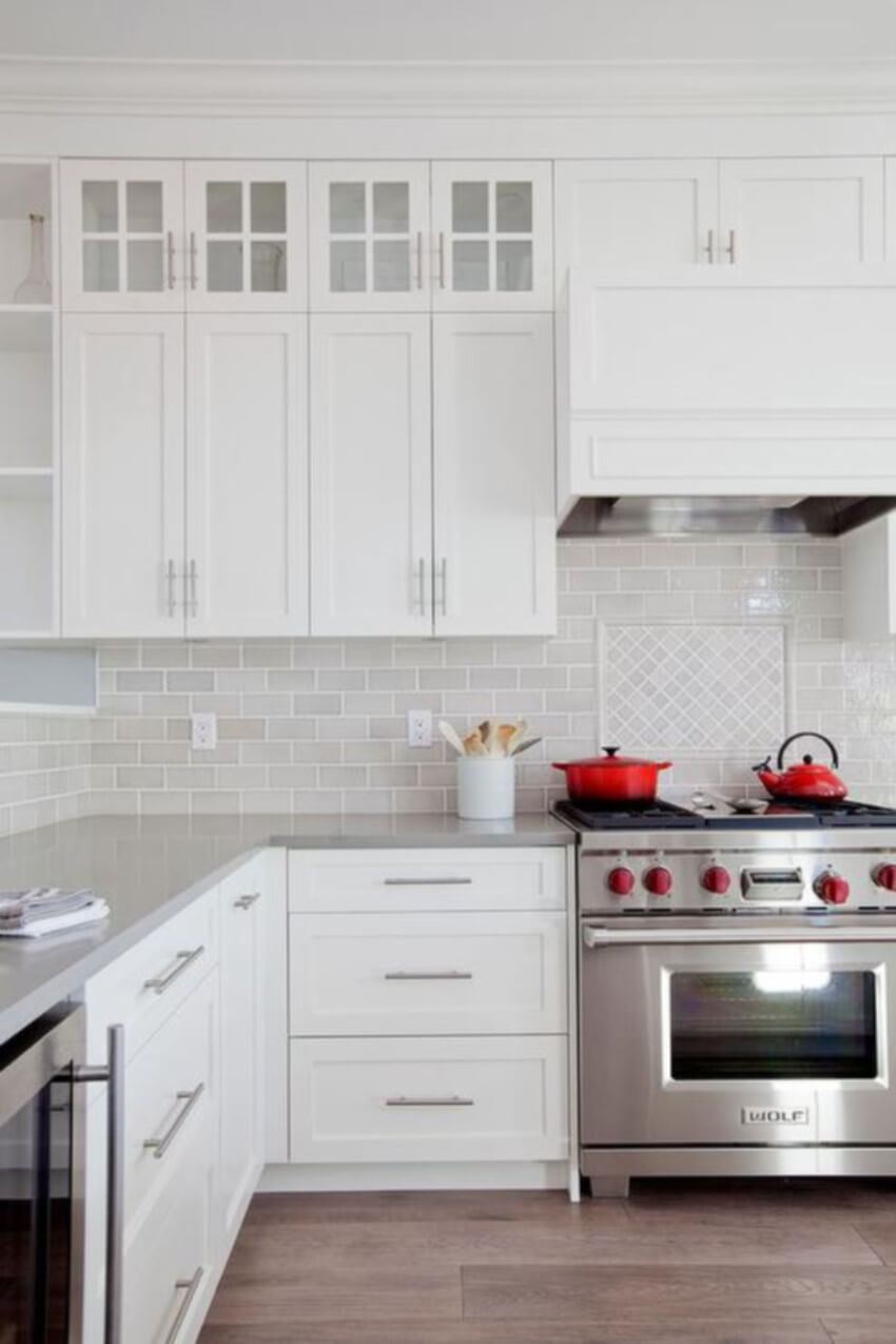 White shaker cabinets are perfect for a timeless kitchen.