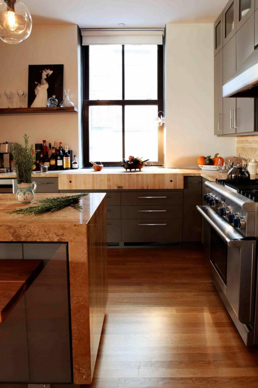 Hardwood floors add warmth and comfort.