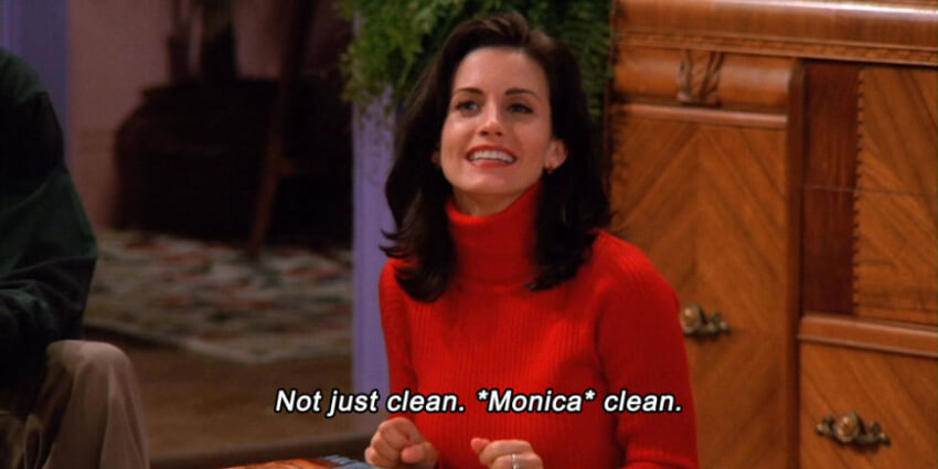 Your home will not be just clean, it will be Monica clean!