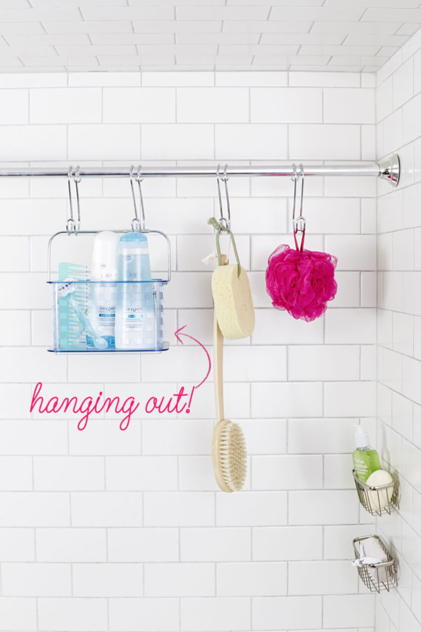 This idea is great for small bathrooms.